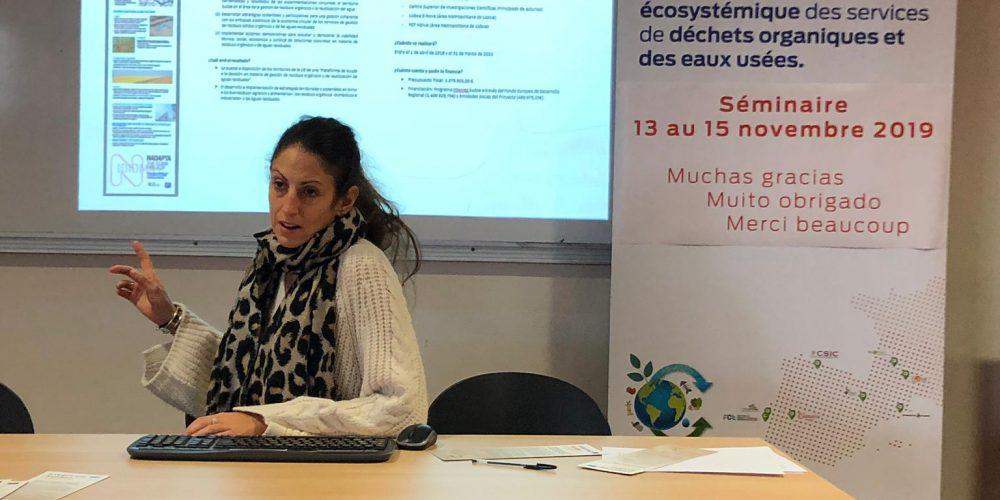 (ES) Intervención De Teresa Arriazu, Técnica De Consorcio EDER En La Cuarta Reunión De Coordinación Del Proyecto Cemowas2 De Interreg Sudoe En Sicoval, Francia.