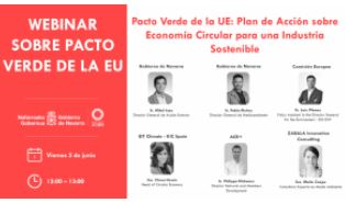 (ES) EVENTO FOROS – PACTO VERDE DE LA UE: PLAN DE ACCIÓN SOBRE ECONOMÍA CIRCULAR PARA UNA INDUSTRIA SOSTENIBLE